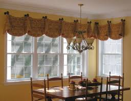 elegant ideas for kitchen window treatments with dining table and