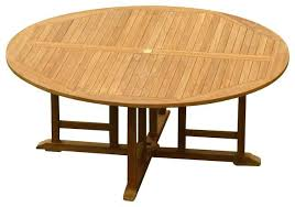 round teak dining table round garden dining table andreuorte com