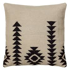 Loloi Pillows Dhurrie Style Pillow Rizzy Home Woven Southwestern Zig Zag Pattern Decorative Throw