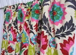 Multi Colored Curtains Drapes Stylish Design Bright Colored Curtains Home Decor Southwestern