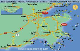 map port diving map st tropez port grimaud