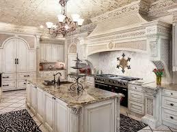 mediterranean kitchen with flush astoria granite countertop