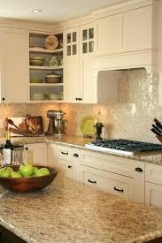 backsplash for cream cabinets cream colored backsplash tile cream 1 x 1 pearl shell tile cream