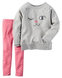 carter u0027s newborn infant u0026 toddler girls u0027 sweatshirt u0026 leggings