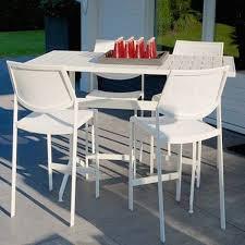 Aluminum Patio Bar Set Flair Aluminum Outdoor Bar Set Monaco Blue Global Furniture Webshop