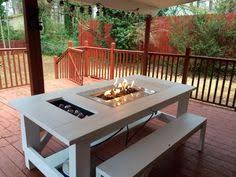 how to build a fire pit table how to build a propane fire pit dining table backyard pinterest