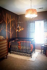 Orange Crib Bedding Sets Custom Orange And Brown Modern Birds Complete 4 Boutique