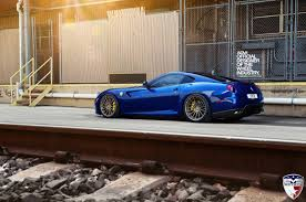 blue ferrari blue ferrari 599 gtb fiorano on adv1 wheels image 4 10