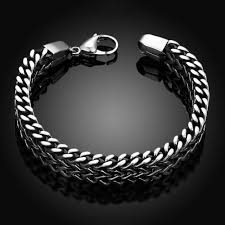 bracelet snake chain images Stainless steel double side snake chain bracelet ancient explorers jpg