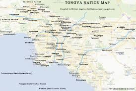 Tonga Map Los Angeles Natives Tonga Villages And Names