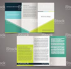 sided tri fold brochure template trifold business brochure template twosided template design stock