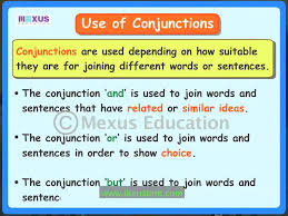 use of conjunctions youtube