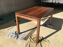 solid walnut dining table floating solid walnut dining table woodworking
