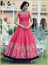 party wear gowns indian stylish designer bangalori silk pink wedding wear gown with