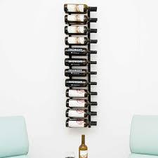 vintage view wall mounted wine rack black 4ft 24 bottle
