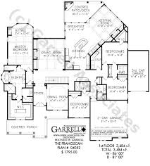 one level house plans with porch franciscan house plan 04052 floor plan ranch style house plans