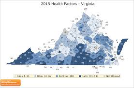 Map Of The State Of Virginia by Virginia Rankings Data County Health Rankings U0026 Roadmaps