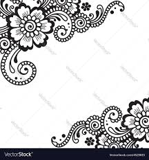 flower ornament corner royalty free vector image