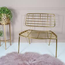 gold mesh lounge chair audenza