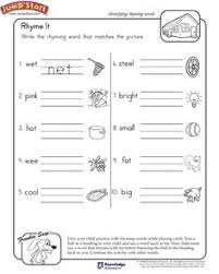 rhyming words worksheet rhyming pinterest english