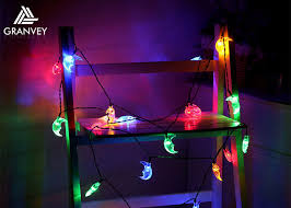 solar led christmas lights outdoor 30 led moon solar led christmas lights string 6m outdoor waterproof