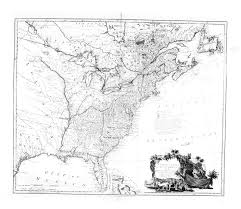 United States Map Black And White by Digital History