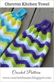 pattern crochet towel holder free pattern for these quick and easy crochet chevron towels for the
