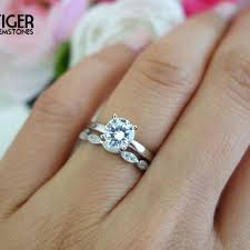 cheap man made diamond engagement rings sale 1 carat art deco