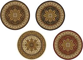 2 X 5 Area Rugs Traditional Round 5x5 Oriental Area Rug Persian Carpet Actual 5