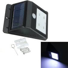 Motion Detector Light Outdoor by 4 Led Solar Power Pir Motion Sensor Light Outdoor Garden Wall Lamp