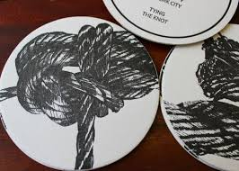 save the date coasters tying the knot save the date coasters sesame letterpress design