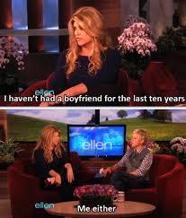 Ellen Degeneres Meme - ellen degeneres discusses her boyfriend situation on her show