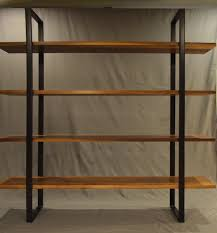 Metal Bookcases Live Edge Elm End Raw Steel Bookcase Design Pinterest Metal
