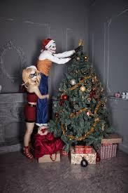 christmas tree and harley and joker by moonychka on deviantart