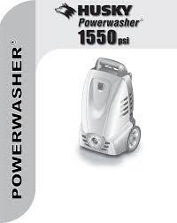 husky pressure washer 1550 psl user guide manualsonline com