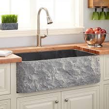 Farm Sink Kitchen 33 Polished Granite Farmhouse Sink Chiseled Apron Blue Gray