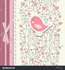 Wallpaper Invitation Card Vintage Pink Background Invitation Backdrop Card Stock