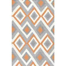 Orange And Brown Area Rug Nuloom Orange Area Rugs Rugs The Home Depot