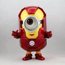 despicable 2 minion stuart iron man stlye pvc action figure