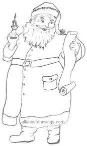 santa claus outline sketch