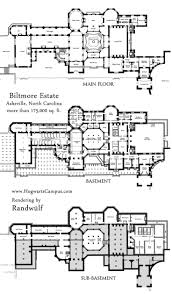 Ranch Style House Floor Plans by Biltmore Estate Mansion Floor Plan Lower 3 Floors We Have The