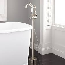 keswick freestanding thermostatic tub faucet and hand shower