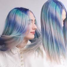 feather hair color hair painting by caitlin ford blue hair pink