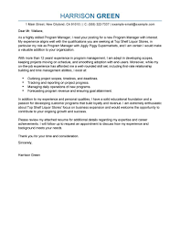 Manager Experience Resume Best Management Cover Letter Examples Livecareer