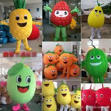 Lemon Halloween Costume Fruit Mascot Costume Apple Pumpkin Lemon Watermelon Cartoon