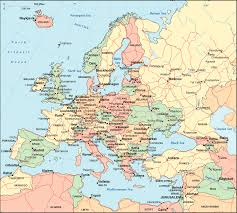 euope map map showing europe major tourist attractions maps