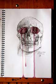 skull and roses sketch by bernisteria on deviantart