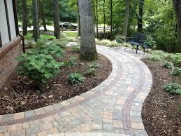 Ideas For Garden Walkways Brick Sidewalk Designs Garden Design