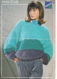mohair sweater multi color hand knitting pattern keeping mind and