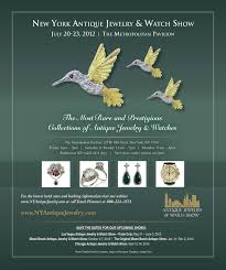 advertisement for the new york antique jewelry u0026 watch show by